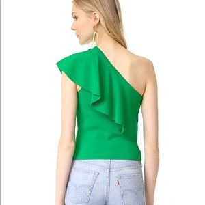 c59baeadc18 Milly Tops   Nwt Green One Shoulder Top   Poshmark